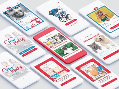 Max&Holley App Design app illustration typography flat minimal ui design