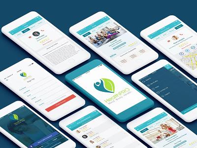 HealthPro typography icon flat ui minimal design app