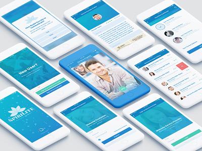 SpiriLite App Design logo flat ui minimal design app