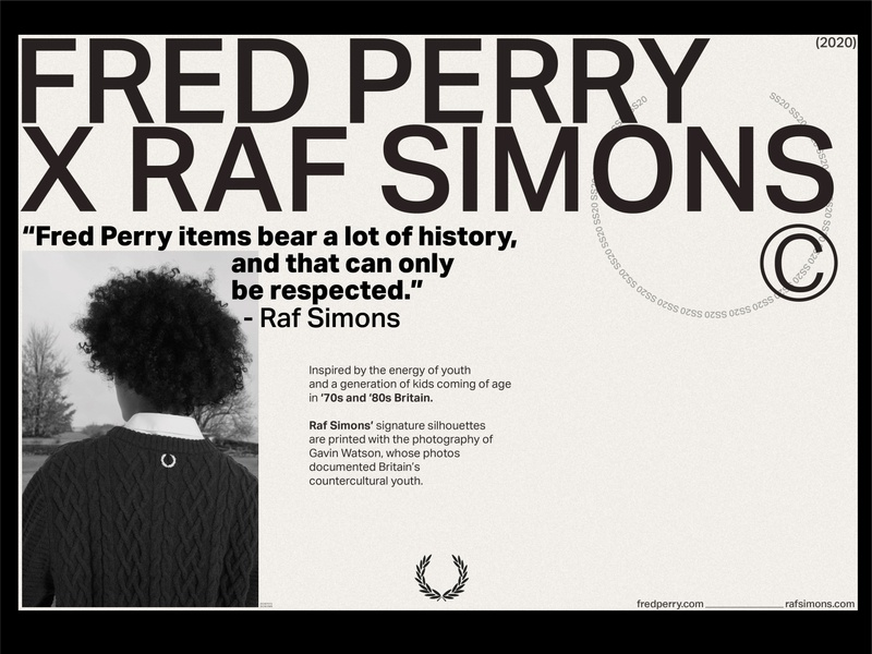 Fred Perry x Raf Simons article concept