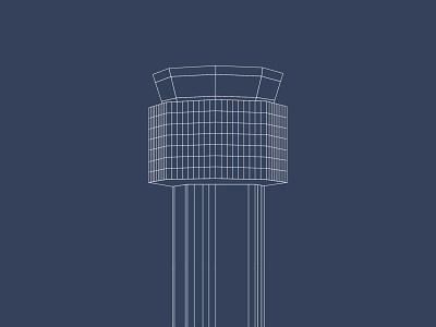 Mehrabad Intl Airport Traffic Control Tower - Iran Airports design illustration airport