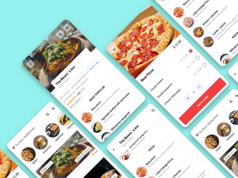 Food App interface app design design mobile app ui