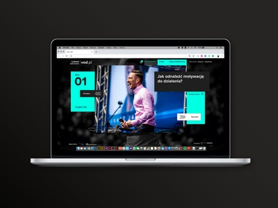 Łukasz Jakobiak VOD website webdesign ui adobe xd web graphic design design