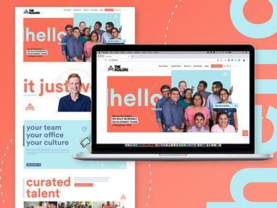 Website for software development team webdesigner webdesign ux website ui adobe xd web typography graphic design design