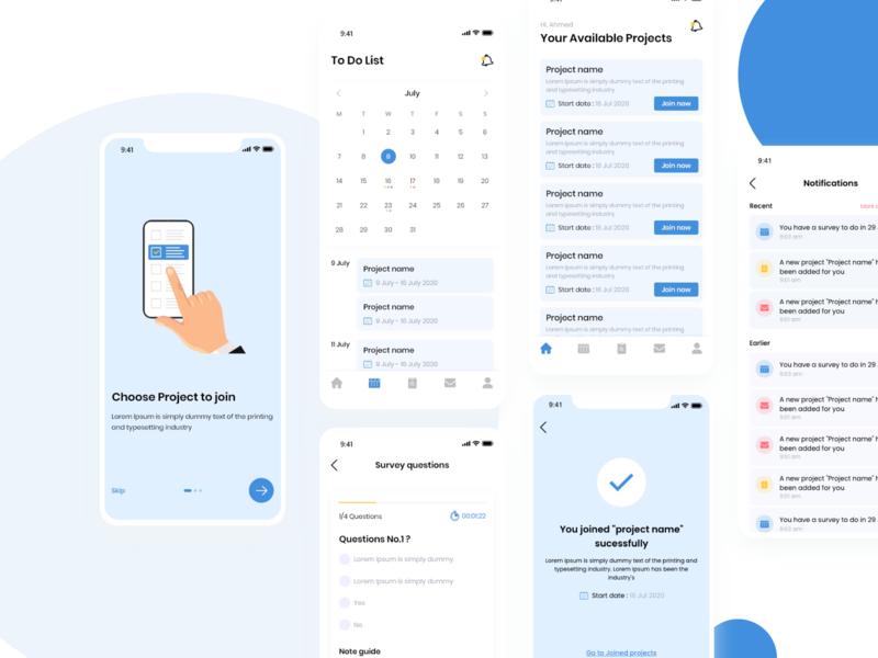 Survey App question mobile survey app design ui
