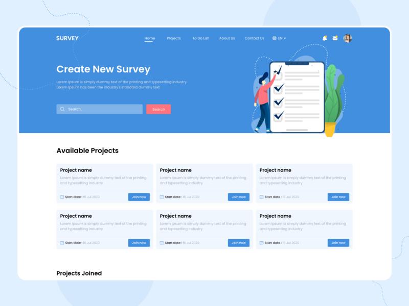Survey Website web illustration webdesign website survey design ui