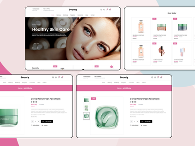 Beauty Website shopping design ui cosmetics ecommerce design ecommerce web design website beauty