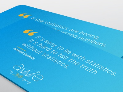 Carte De Visite Quote Agency Card