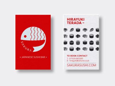 Sakura business cards