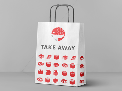 Sakura Take away bag