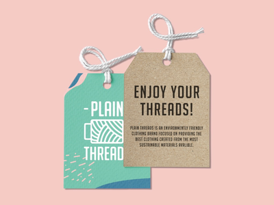 Plain Threads Tag