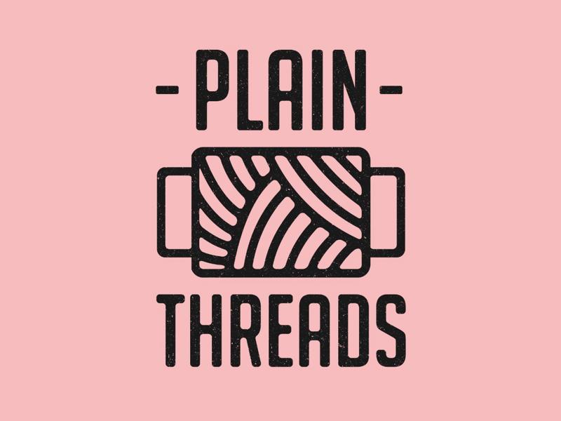 Plain Threads Logo modern minimalistic abstract logos layout design identity brand vector mark logo