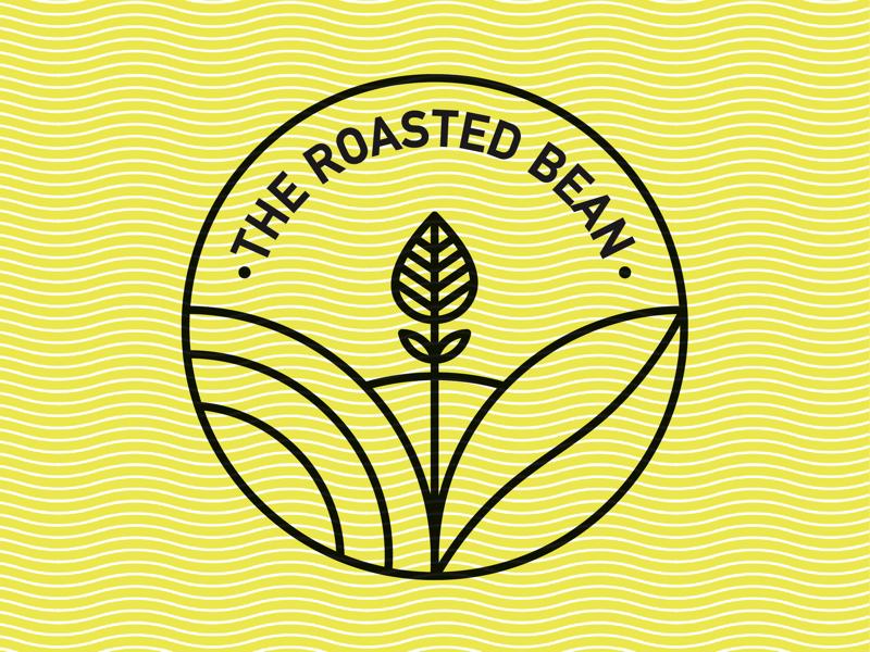 The Roasted Bean illustration identity branding brand print logos challenge vector mark layout type abstract minimal minimalistic logo monoline