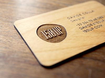 150UP Business Card branding business card logo 150up letterpress stationary wood