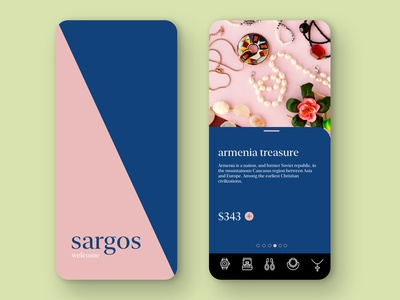 SARGOS Jewelery app design