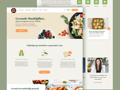 EkoMenu Homepage redesign dutch meal plan healthy food mealbox ui concept practice