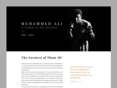 Tribute to Muhammad Ali css freecodecamp tributepage ali