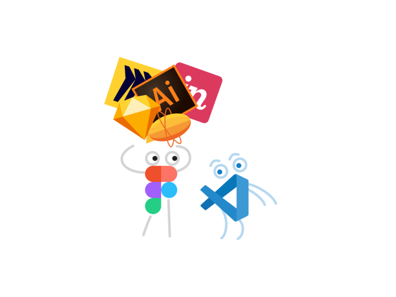 Figma & VSCode tools fun friends figma vscode minimal illustration
