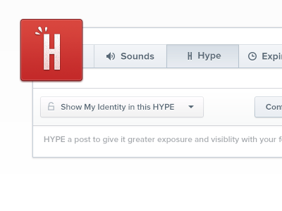 HYPE that Post design icon tabs nathan dropdown smooth