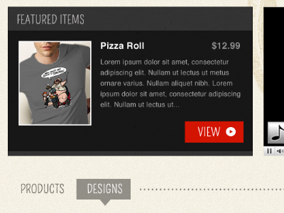 Obey the Mighty Pizza Roll mike ecommerce web application