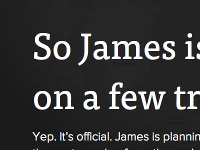 James is Going Away Fall 2011 map texture james splash