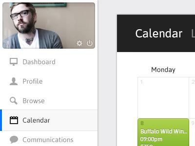 Calendar Cleanliness web application tom design clean icons calendar