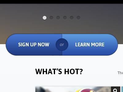 Big Buttons tom design button pagination sales app