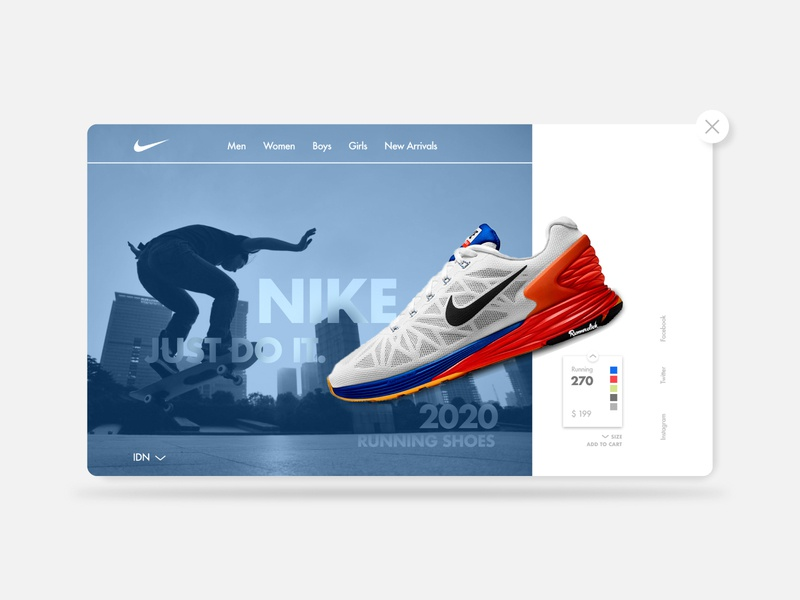Nike | UI Design concept website design webdesign ux design ui design product website shop products branding design nike ux ui