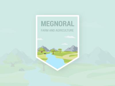 Agriculture Illustration - Landscape mockup drawing branding logo landscape illustrations