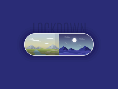 Lockdown capsule - Day and Night freelance designer ui lockdown day and night capsules icon illustration
