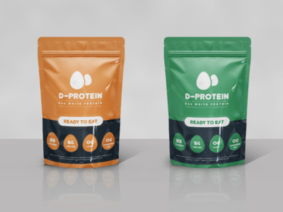Package Design - E-Protein green orange design print vitamind protein healthy ehgwhite egg