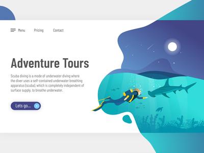 Adventure Tour Landing Page