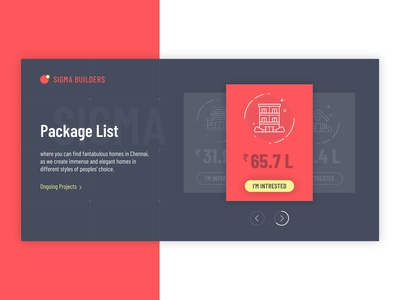 Building Construction Package List blackandred panda homepage interface template webdesign webpage freelancer freelance designer portfolio red realestate shopping package uiuxdesign uiux landingpage construction craft pandacraft