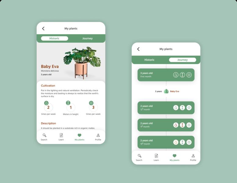 Plant care care green plants plant app ux ui