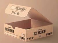 Free cartoon packaging mockup