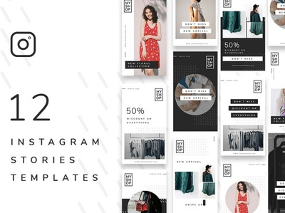 12 Shop Instagram Stories Template
