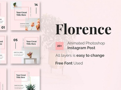 Florence Instagram Template Free PSD