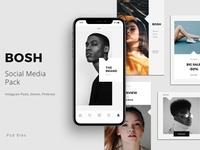 BOSH - Social Media Pack Free PSD