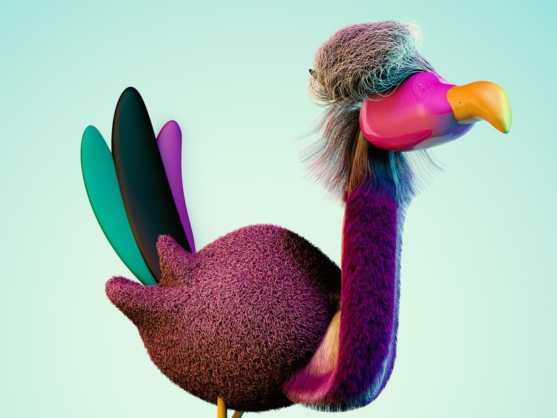 3d Bird zbrush cinema4d 3d art character animals