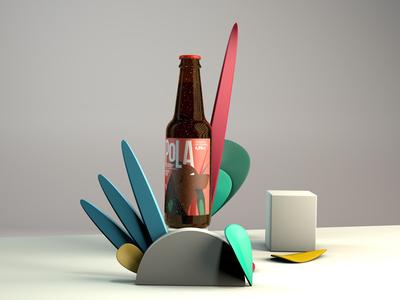Pola Beer beer branding cinema4d packaging design branding design beer label