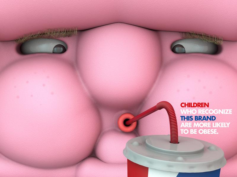 Brands that make you fat advertisement photoshop pepsi character cinema4d 3d artist