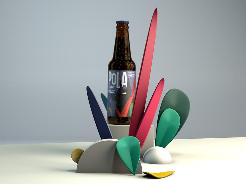 Pola - Beer package design animals cinema4d beer branding beer label