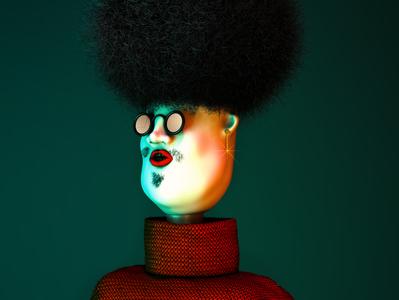 Disco Guy illustration stylish zbrush photoshop cinema4d 3dcharacter character