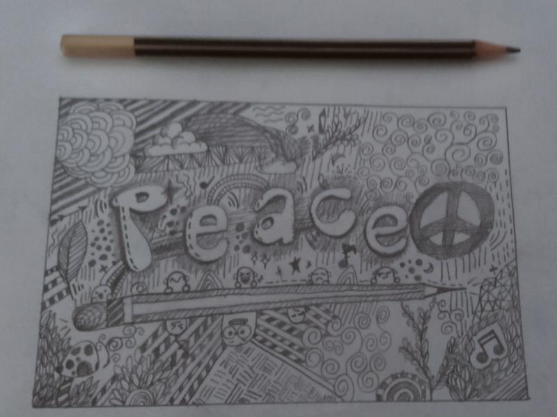 Peace art pencil drawing peace