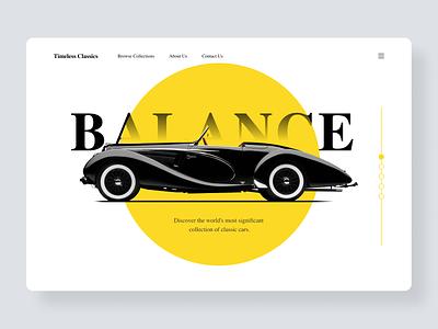 Hero Design ui branding simple layout homepage clean landing page
