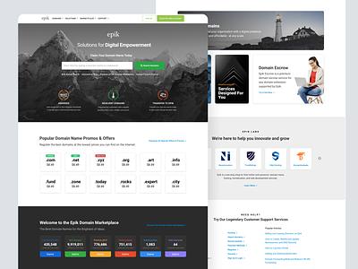 Homepage Design branding domains ui design landing clean layout homepage