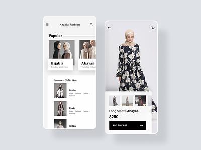 Arabia Fashion trending minimal shopping app branding
