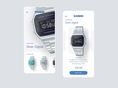 Do you remember your first Casio? figma branding simple clean layout ui app