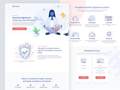SignDeck Homepage concept illustration layout clean ui product branding landingpage homepage web