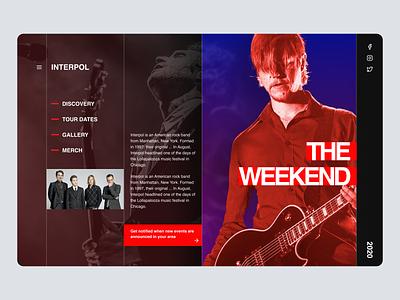Band Hero uiux landing pge homepage webdesign hero